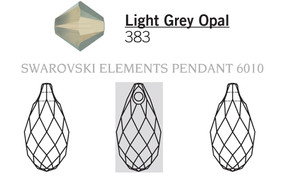 Swarovski 6010# - 130X65mm Light Grey Opal, 144pcs, (11-6)
