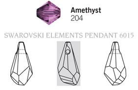 Swarovski 6015# - 17mm Amethyst, 72pcs, (4-1)