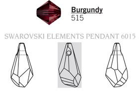 Swarovski 6015# - 17mm Burgundy, 72pcs, (6-3)