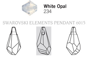 Swarovski 6015# - 17mm White Opal, 72pcs, (4-2)