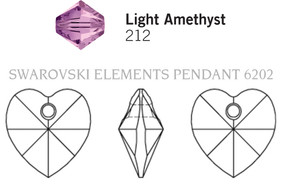 Swarovski 6202# - 10.3X10mm Light Amethyst, 288pcs, (10-8)