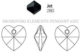 Swarovski 6202# - 103X100mm Jet, 288pcs, (13-2)