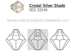 Swarovski 6301# - 8mm Crystal, SSHA, 288pcs, (21-5)