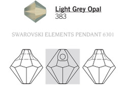 Swarovski 6301# - 8mm Light Grey Opal, 288pcs, (21-5)