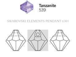 Swarovski 6301# - 8mm Tanzanite, 288pcs, (21-4)