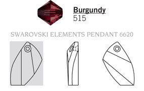 Swarovski 6620# - 20mm Burgundy, 48pcs, (12-3)