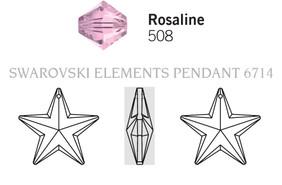 Swarovski 6714# - 20mm Rosaline, 48pcs, (20-12)