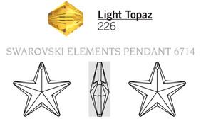 Swarovski 6714# - 28mm Light Topaz, 24pcs, (2-3)
