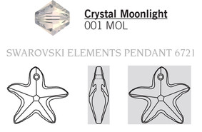 Swarovski 6721# - 40mm Crystal, MOL, 6pcs, (20-9)
