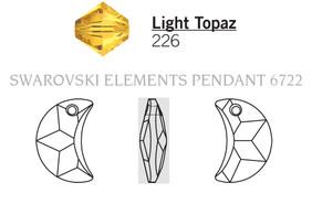 Swarovski 6722# - 16mm Light Topaz, 72pcs, (6-10)