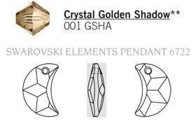 Swarovski 6722# - 18mm Crystal, GSHA, 72pcs, (2-10)