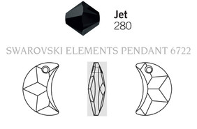 Swarovski 6722# - 20mm Jet, 48pcs, (2-6)