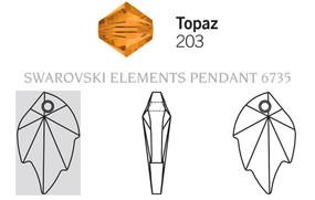 Swarovski 6735# - 3.2X2mm Topaz, 30pcs, (8-3)