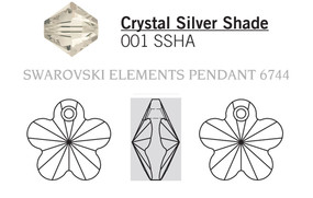Swarovski 6744# - 12mm Crystal, SSHA, 144pcs, (20-9)