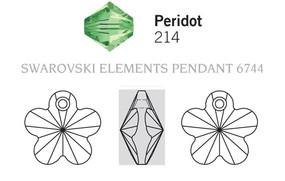 Swarovski 6744# - 12mm Peridot, 144pcs, (20-9)