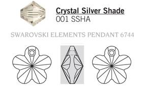 Swarovski 6744# - 14mm Crystal, SSHA, 144pcs, (1-8)