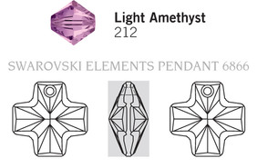 Swarovski 6866# - 20mm Light Amethyst, 72pcs, (1-9)
