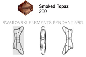 Swarovski 6905# - 30mm Smoked Topaz, 30pcs, (3-8)