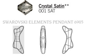Swarovski 6905# - 45mm Crystal, SATIN, 6pcs, (3-6)