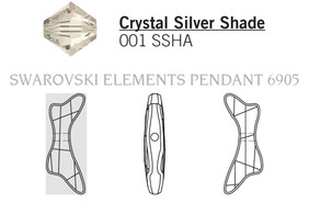 Swarovski 6905# - 45mm Crystal, SSHA, 6pcs, (3-9)