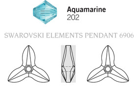 Swarovski 6906# - 20mm Aquamarine, 30pcs, (3-6)