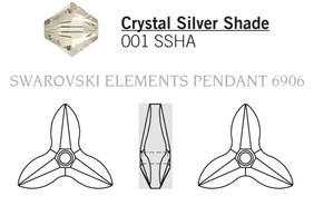 Swarovski 6906# - 40mm Crystal, SSHA, 6pcs, (3-6)