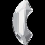 Swarovski Flatback 2037 - 8mm, Crystal (001) Foiled, No Hotfix, 240pcs