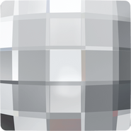 Swarovski Flatback 2493 - 30mm, Crystal (001) Foiled, No Hotfix, 6pcs