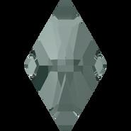 Swarovski Flatback 2709 - 10x6mm, Black Diamond (215) Foiled, No Hotfix, 288pcs