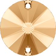Swarovski Sew-on 3200 - 12mm, Crystal Golden Shadow (001 GSHA) Foiled, 72pcs