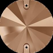 Swarovski Sew-on 3200 - 12mm, Crystal Rose Gold (001 ROGL) Foiled, 72pcs