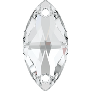 Swarovski Sew-on 3223 - 12x6mm, Crystal (001) Foiled, 48pcs
