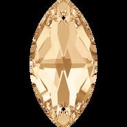 Swarovski Sew-on 3223 - 12x6mm, Crystal Golden Shadow (001 GSHA) Foiled, 48pcs