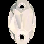 Swarovski Sew-on 3231 - 23x14mm, Crystal Moonlight (001 MOL) Unfoiled, 36pcs