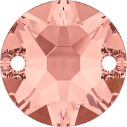 Swarovski Sew-on 3288 - 10mm, Blush Rose (257) Foiled, 96pcs