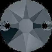 Swarovski Sew-on 3288 - 12mm, Crystal Silver Night (001 SINI) Unfoiled, 72pcs