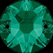 Swarovski Sew-on 3288 - 12mm, Emerald (205) Foiled, 72pcs