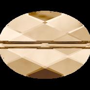 Swarovski Bead 5050 - 22x16mm, Crystal Golden Shadow (001 GSHA), 36pcs