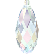 Swarovski Pendant 6010 - 50x21.5mm, Crystal Aurore Boreale (001 AB), 6pcs