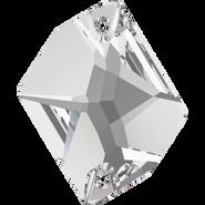 Swarovski Sew-on 3265 - 20x16mm, Crystal (001) Foiled, 2pcs