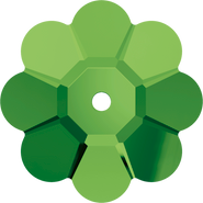 Swarovski Sew-on 3700 - 12mm, Dark Moss Green (260) Unfoiled, 6pcs