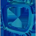 Swarovski 4437 - 14mm, Crystal Bermuda Blue (001 BBL) Unfoiled, 2pcs