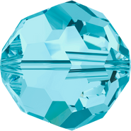 Swarovski Bead 5000 - 10mm, Aquamarine (202), 6pcs