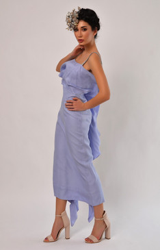 Titania Dress (Tiered Lavender Silk Dress)