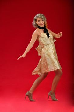 Give Dress (Tiered A-form Silk Taffeta Dress)
