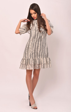The Mock Turtle Dress (Ruffled A-cut Loose Dress)