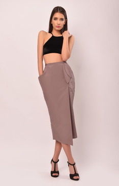 The March Hare Skirt (Silk Blend Wrap Skirt)