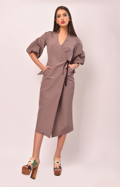 The Caterpillar Dress (Silk Blend Wrap Dress)