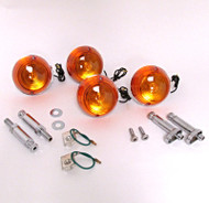 CB Turn Signal Combo Sets Chrome-Front & Rear Combo