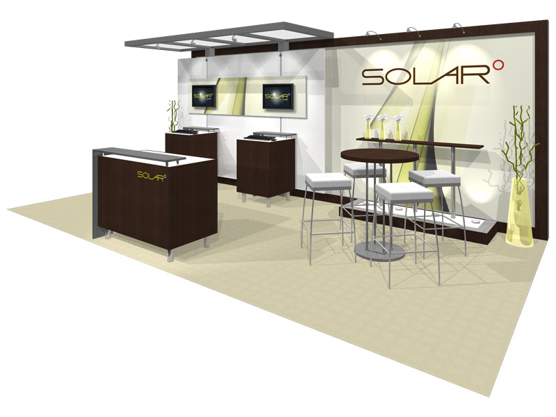 Trade Show Booth Dimensions : Solar a  inline trade show booth epic displays